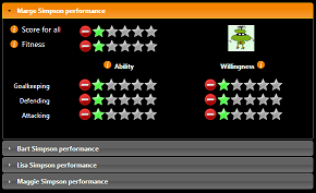 An image of the performance user interface